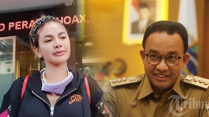 Nikita Mirzani dan Gubernur DKI Anies Baswedan. (Kolase TribunKaltara.com / Tribunnews/Bayu Indra Permana dan Jeprima)