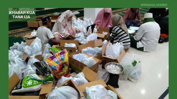 Masjid Besar Darul Ibad di Tana Tidung Bagi-bagi Paket Ramadan untuk Guru Ngaji dan Mustahik