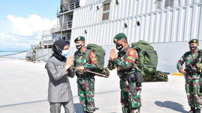 Personel Batalyon Arhanud 16 Sula Buana Cakti Tiba di Nunukan, Asmin Laura Langsung Berikan 7 Tugas
