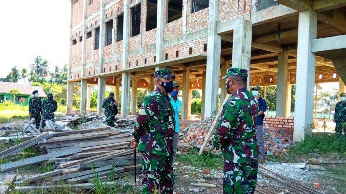 Target Juni Selesai, Pangdam VI Mulawarman Heri Wiranto Tinjau Pembangunan Makorem 092 Maharjalila