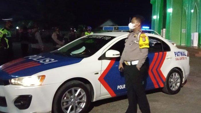 Patroli Malam Takbiran oleh jajaran Polres Bulungan di Tanjung Selor (TribunKaltara.com / Maulana Ilhami Fawdi)