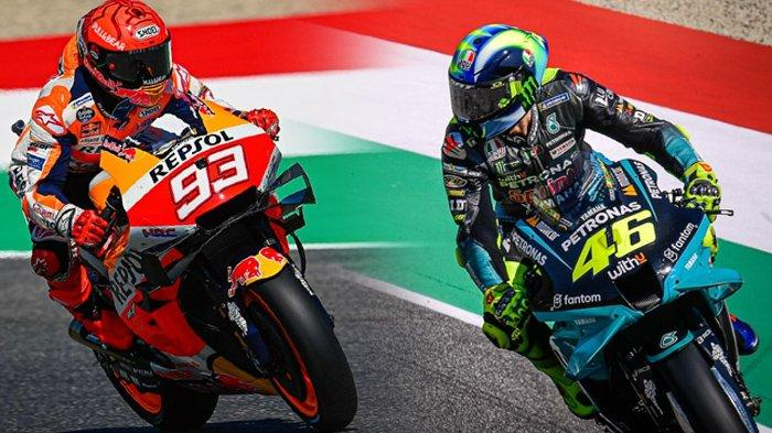 Klasemen MotoGP, Valentino Rossi Buntuti Marc Marquez, Quartararo Tak Terbendung, Bagnaia Merosot