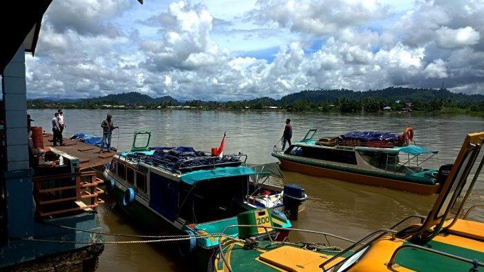 Suasana di pelabuhan Speedboat Malinau Kota, Kabupaten Malinau, Provinsi Kalimantan Utara, beberapa waktu lalu