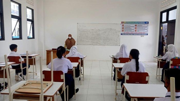 Pelaksanaan PTM terbatas 4 wilayah kecamatan Kabupaten Malinau, Provinsi Kalimantan Utara, beberapa hari lalu. (TribunKaltara.com / Mohammad Supri)