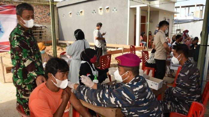 Kembali Gelar Serbuan Vaksinasi Covid-19, Lantamal XIII Tarakan Sasar 2 Kelurahan di Wilayah Pesisir