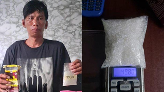 Juru Parkir Ditangkap BNNK Samarinda Bawa Sabu 49,80 gram, Sempat Kelabui Aparat dengan Cara ini