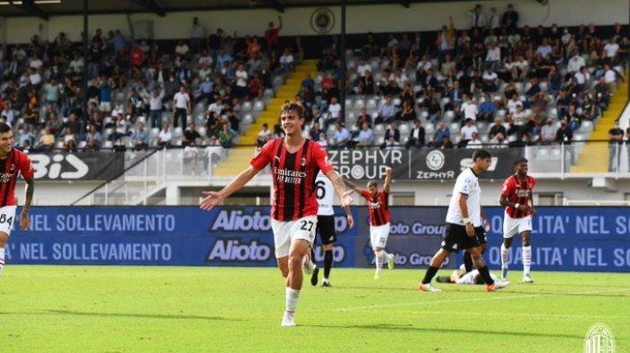 Hasil Liga Italia Spezia vs AC Milan 1-2, Anak Paolo Maldini Cetak Gol, Rossoneri Kini di Puncak