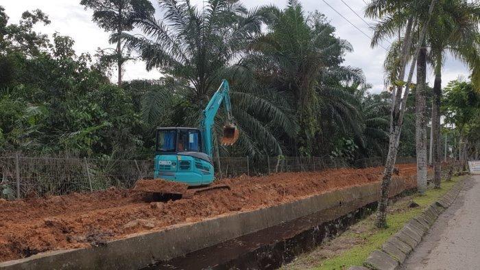 DLH Bulungan Kebut Proyek Landscape Taman Vegetasi Hutan Kota, Ada Replika Perisai Adat Dayak.