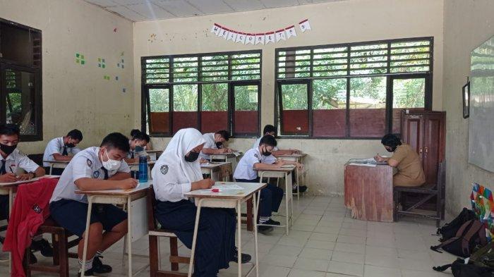 Pembelajaran tatap muka di salah satu SMP di Malinau