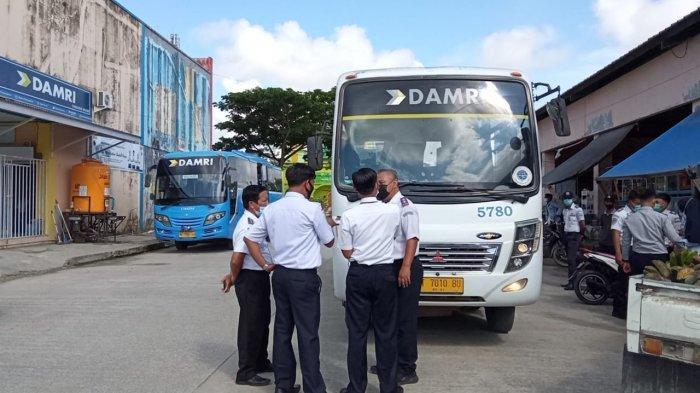 Jelang Lebaran, Dilakukan Pemeriksaan Ramp Check Bus Damri, Ditemukan Ada Kartu Tidak Berlaku