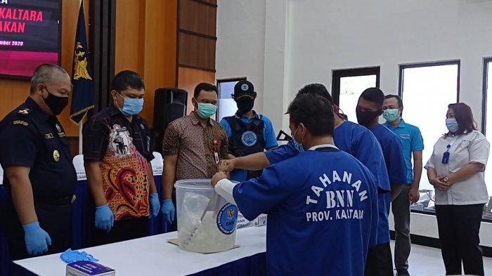 BNNP Kaltara Musnahkan 988,9 Gram Barang Bukti Sabu-sabu, Peredaran Narkoba di Lokasi Pertambakan