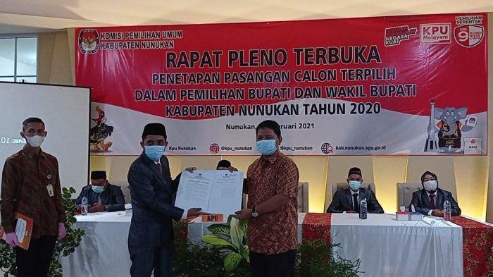 Gugatan Danni Iskandar Ditolak MK, Asmin Laura Ditetapkan Jadi Bupati Nunukan, KPU Usul Pelantikan