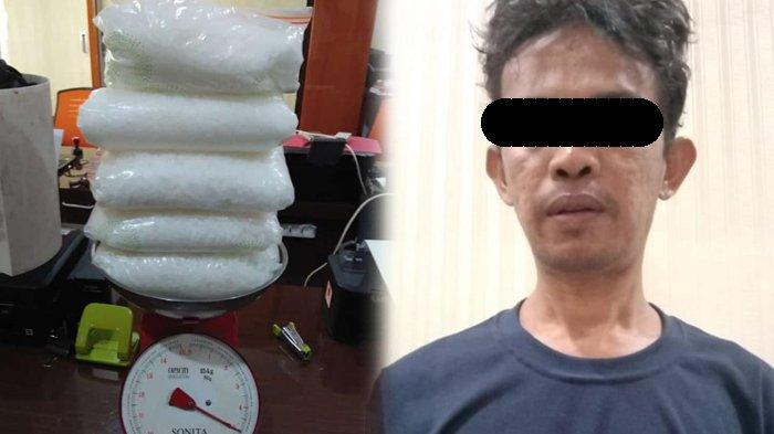 Polisi Tangkap Kakak Beradik Jual Narkoba di Nunukan,Sabu 5 Kg dari Malaysia Disembunyikan di Kebun