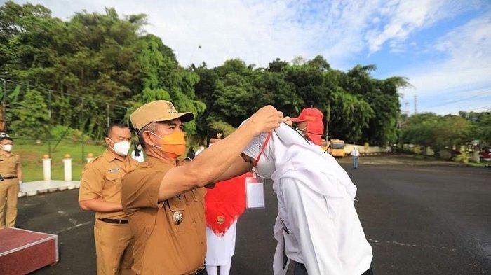 Wali Kota dr Khairul Membuka Pusdiklat Calon Paskibraka Kota Tarakan 2021