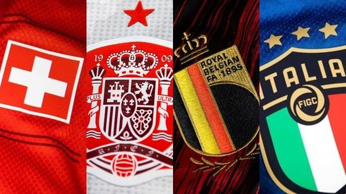 Jadwal Perempat Final Euro 2021, Swiss vs Spanyol dan Belgia vs Italia Tayang Sabtu 3 Juli 2021