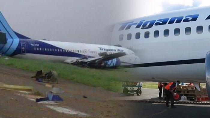 Pesawat Trigana Air Tergelincir saat Mendarat di Bandara Halim, Sempat Keluarkan Asap Hitam