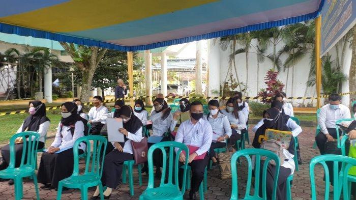 Para peserta SKD CPNS Kabupaten Bulungan, Senin (20/9/2021).