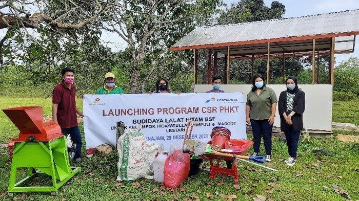 Pertamina Hulu Kalimantan Timur meluncurkan program CSR budidaya lalat hitam.