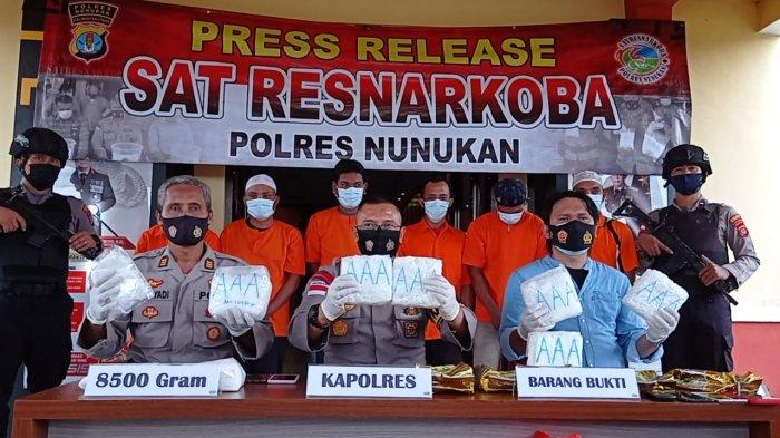 Satreskoba Polres Nunukan Gagalkan Penyelundupan Sabu 5 Kilogram ke Sulteng, Kurir Diupah Rp 50 Juta