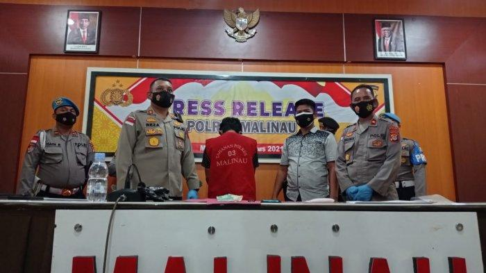 Polres Malinau, AKBP Reza Pahlevi menyampaikan keterangan dalam pers rilisnya di Mapolres Malinau, Kecamatan Malinau Kota, Kabupaten Malinau, Provinsi Kalimantan Utara, Kamis (19/8/2021).