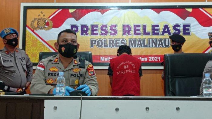 Selundupkan 48,95 Gram Sabu Dalam Jok Motor, Pria RS Dibekuk Satreskoba Polres Malinau di Desa Salap