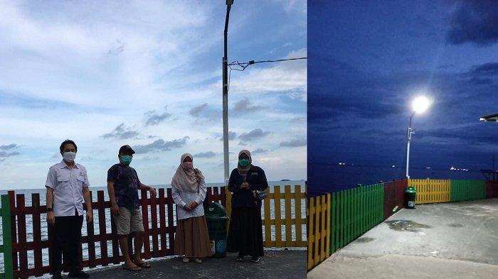 Laksanakan Program PKM, Tim Dosen Poltekba Bantu Penerangan Jalan Umum di Kampung Pinisi Balikpapan