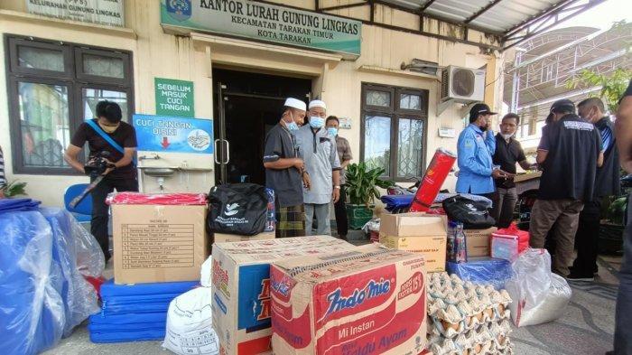Korban Kebakaran Tarakan 15 KK dan 65 Jiwa, Posko Bantuan Dipusatkan di Kelurahan Gunung Lingkas