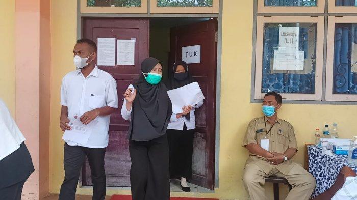 Pelaksanaan uji kompetensi tahap 1 seleksi penerimaan ASN PPPK guru di SMKN 2 Tarakan.