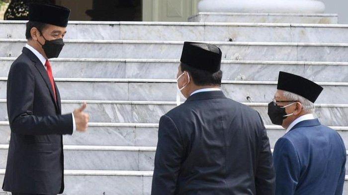 Prabowo Berdiri di Sebelah Ma'ruf Amin, Jokowi Beri Jempol, Banjir Sorotan di Instagram
