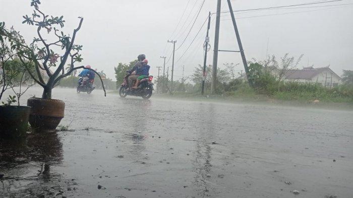 iIlustrasi,  Hujan di wilayah Malinau Kota pada sore hari, beberapa hari lalu.