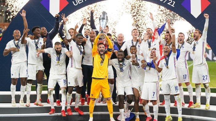 Spanyol Gigit Jari, Gol Karim Benzema dan Kylian Mbappe Antar Prancis Juara UEFA Nations League