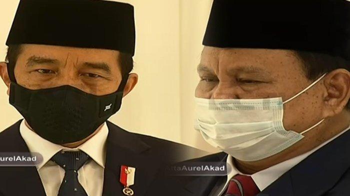 Presiden Jokowi dan Prabowo hadir sebagai saksi pernikahan Atta Halilintar dan Aurel Hermansyah di Hotel Raffles, Jakarta, Sabtu (3/4/2021)