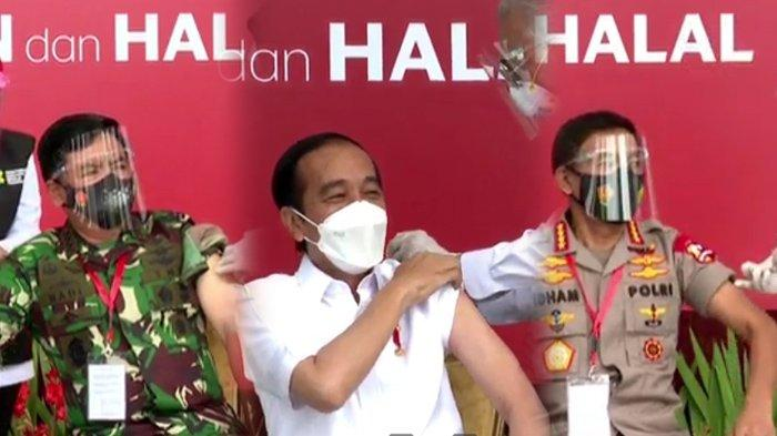 RESMI, Presiden Jokowi Disuntik Vaksin Corona Sinovac, Termasuk Panglima TNI dan Kapolri Idham Azis
