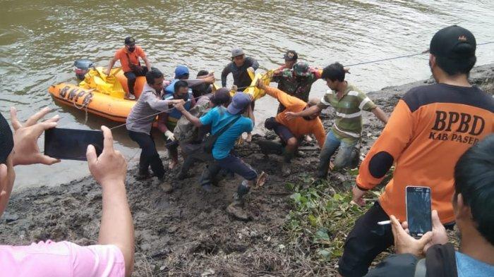 Warga Diterkam Buaya di Sungai Sangkurane Tana Paser Kaltim Ditemukan, Kondisi Tubuh Korban tak Utuh