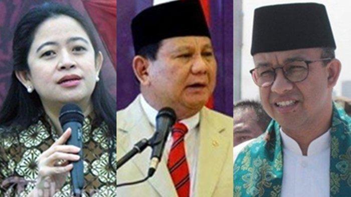Survei Pasangan Capres Cawapres, Prabowo - Puan Teredah, Ketum Gerindra Tertinggi Duet dengan Anies