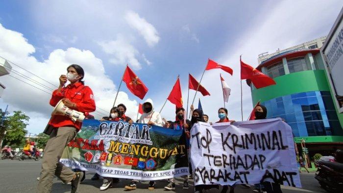 Gelar Long March, GERTAK Tuntut Transparansi Penyelesaian Pencemaran Limbah di Sungai Malinau