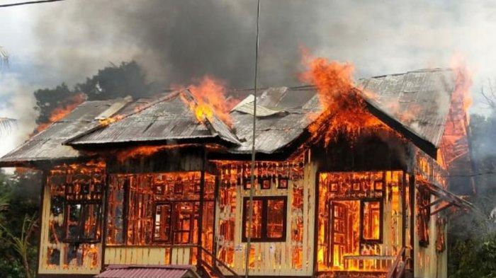 Puskemas Pembantu Kampung Merasa Kabupaten Berau Ludes Terbakar, Polisi Duga karena Genset Meledak