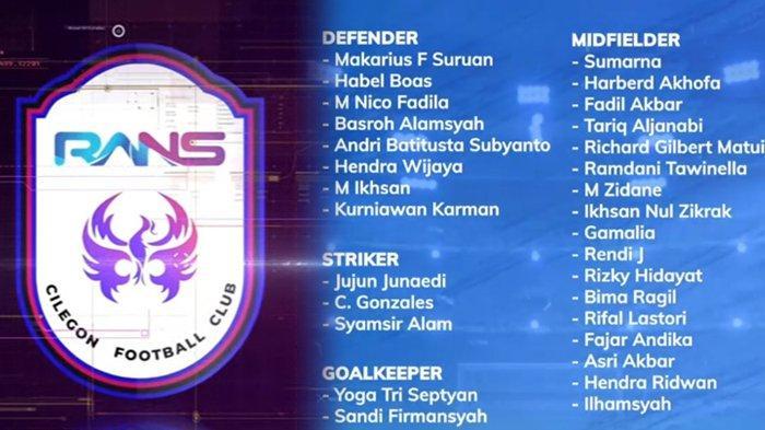 Klub Milik Raffi Ahmad Umumkan Daftar Pemain, RANS Cilegon FC Punya Koneksi Kuat dengan Borneo FC