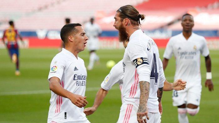 Hasil Liga Spanyol, Sergio Ramos Kubur Mimpi Ansu Fati di El Clasico, Real Madrid Kalahkan Barcelona