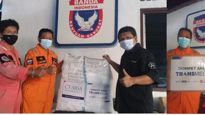 Peduli Penanganan Covid-19, CT Arsa Foundation Bantu APD untuk Relawan Banda Indonesia Balikpapan