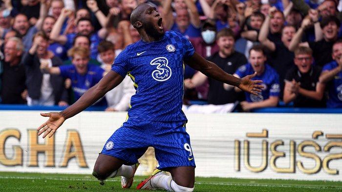 Hasil Liga Inggris, Lukaku Moncer Cetak Brace ke Gawang Aston Villa, Chelsea Susul Man United