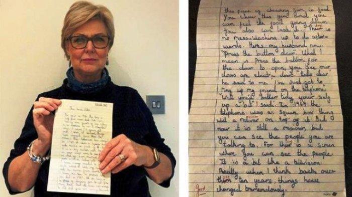 Tulisan Tugas Sekolah Gadis SD Angkatan 1969 Viral, Sudah Sebut Video Call dan Prediksi Masa Depan