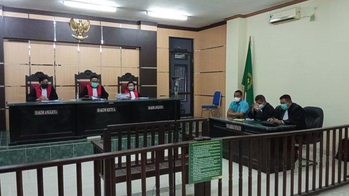 Ruang Sidang Cakra PN Tanjung Selor sedang persiapan bacaan putusan akhir terhadapa IS, Kamis (2/09/2021).