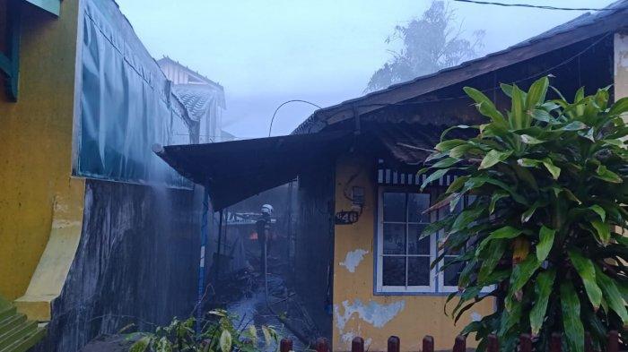 Satu Rumah di Loa Bahu Samarinda Terbakar, Hanya Menyisakan Bagian Depan Bangunan