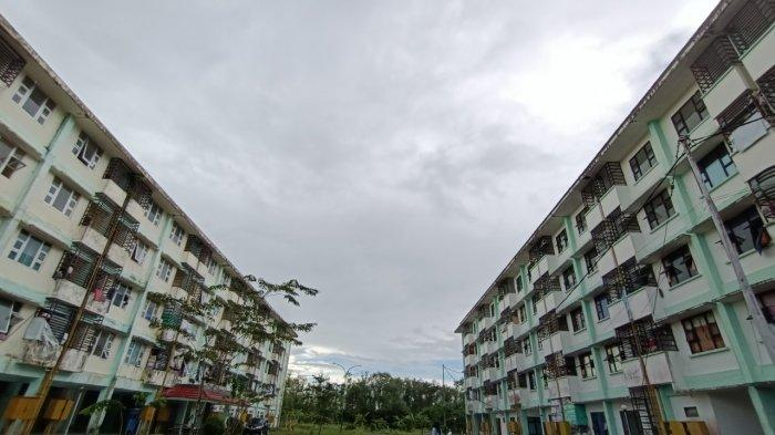 Tampak bangunan rusunawa dan rusun yang berlokasi di Kelurahan Pamusian.