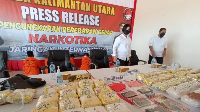 Update Polda Kaltara Berhasil Gagalkan Peredaran 126 Kilogram Sabu, 5 Tersangka Miliki Peran Berbeda