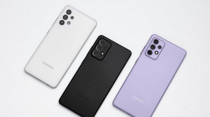 Samsung Galaxy A32, Galaxy A52, dan Galaxy A72.(Samsung)