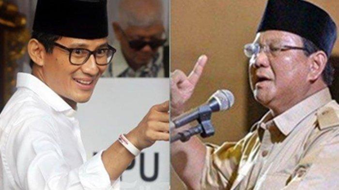 Kalah di Pilpres 2019, Prabowo Subianto jadi Pembantu Terbaik Presiden Jokowi, Sandiaga Uno ke 2