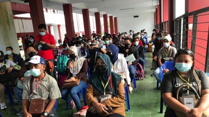 67 Pekerja Migran Indonesia & 5 WNI Pelancong dari Malaysia Ikuti Karantina 5 Hari di Nunukan
