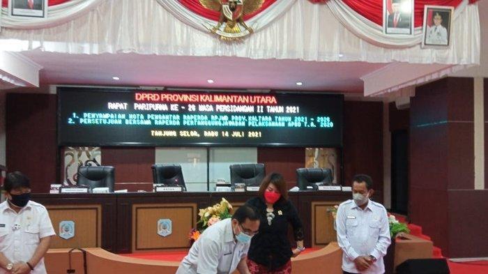 Terima Nota Pengantar Raperda RPJMD, DPRD Kaltara Harap Pembangunan di Perbatasan Diperhatikan